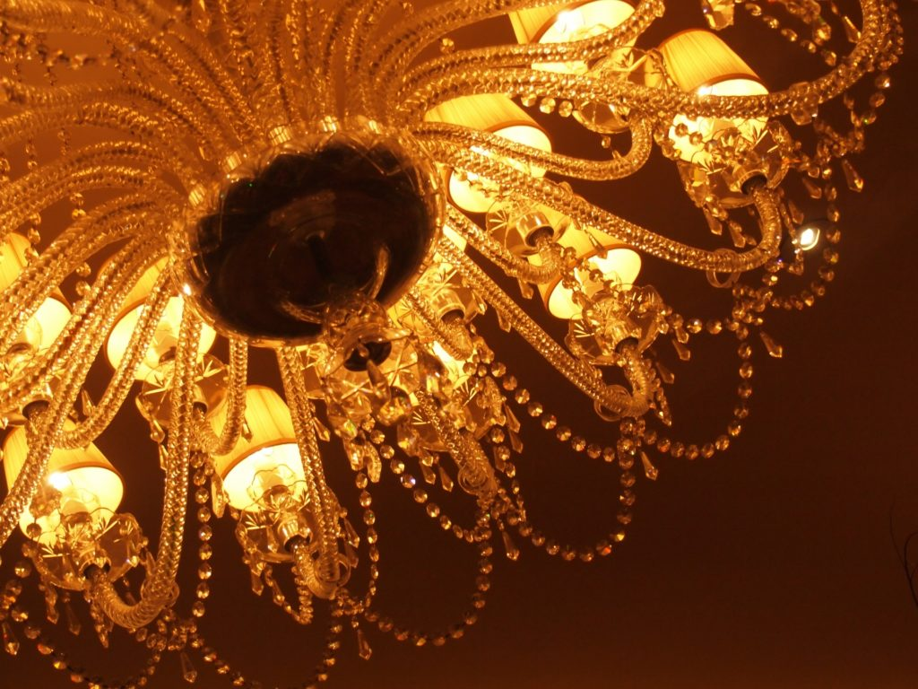 リッツカールトンのシャンデリアの写真