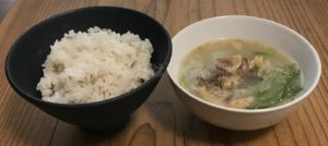 実際に食べたテールスープの写真