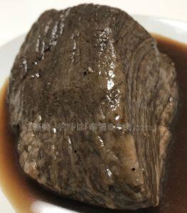 たわら屋の特選黒毛和牛「イチボ」極撰ローストビーフの肉の塊の写真