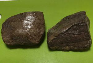 たわら屋の「ランプ」と「イチボ」のローストビーフの塊の比較の写真