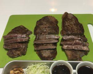 ミートマイチクの赤身肉(ヒレ、ランプ、モモ)完成時の写真
