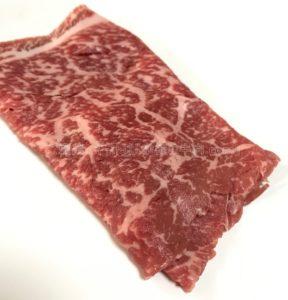 松商の近江牛モモすき焼きの生肉の見た目の写真